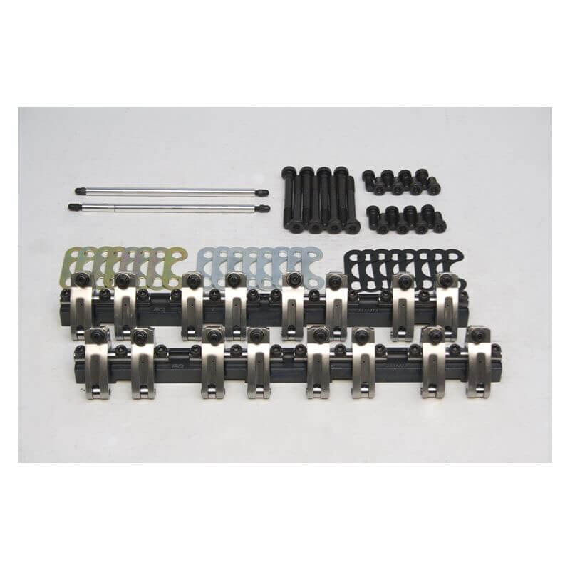 PRW (3335003): PQx Series Aluminum Shaft Rocker Arm Systems for Small Block Chevy 262-400, 1.60 Ratio