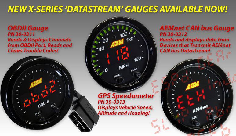 AEM: X-Series Datastream Gauges