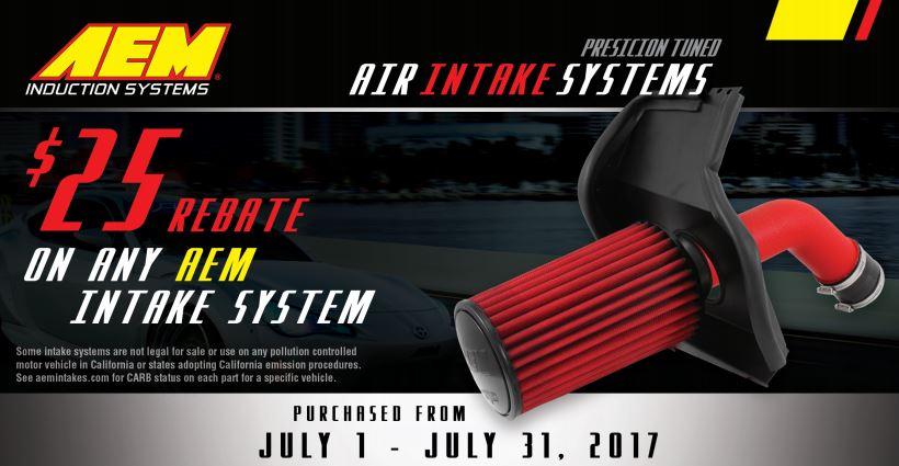 AEM 25 Dollars Back on Intake System