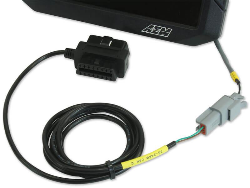 AEM OBDII CAN Bus Harness for CD-7 and CD-7L Digital Dash Displays