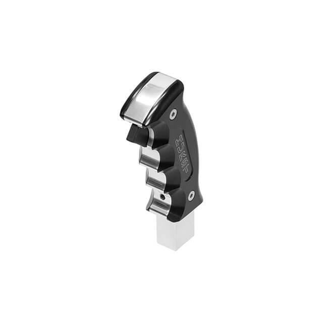 Hurst Billet_Plus Pistol Grip Handle - Black Polished_Anodized Aluminum