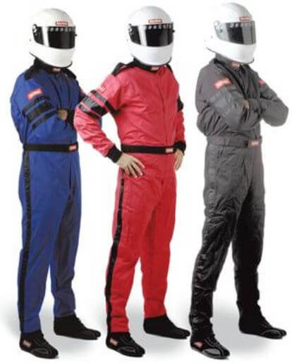RaceQuip: 110 Series Pyrovatex SFI-1 Single-Layer Suits, Jackets, and Pants