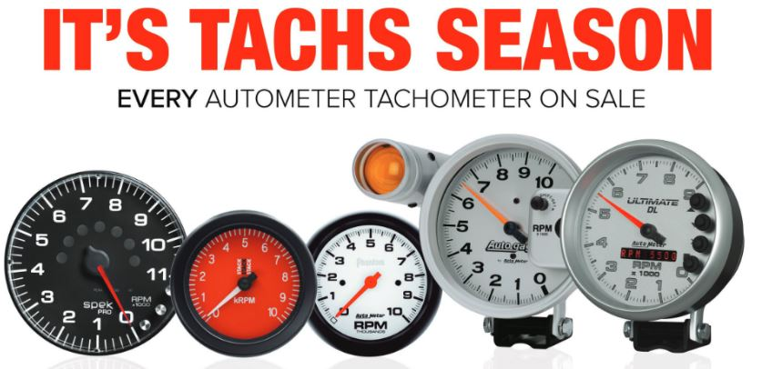 AutoMeter Tachs Season Rebate