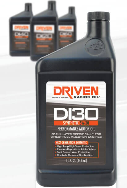 Driven Racing Oil DI Series Synthetic Performance Motor Oil