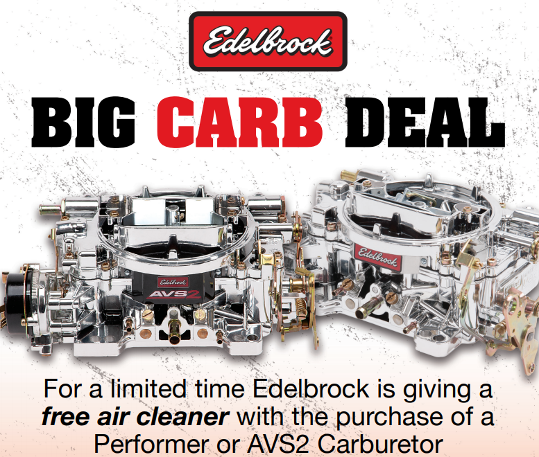 Edelbrock Free Air Cleaner with AVS2 or Performer Carb Purchase