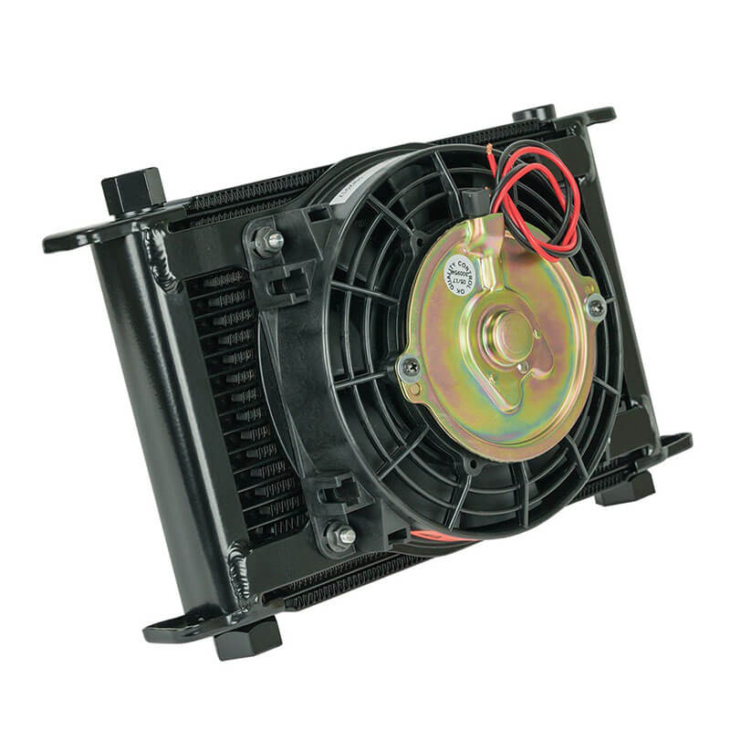 Flex-A-Lite Remote Mount Stacked Plate 21 Row Engine Oil Cooler with Electric Fan