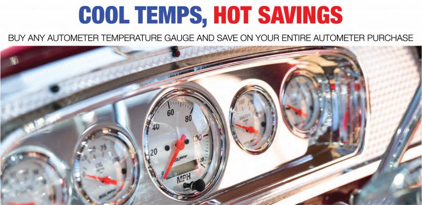 AutoMeter Cool Temps Hot Savings Rebate