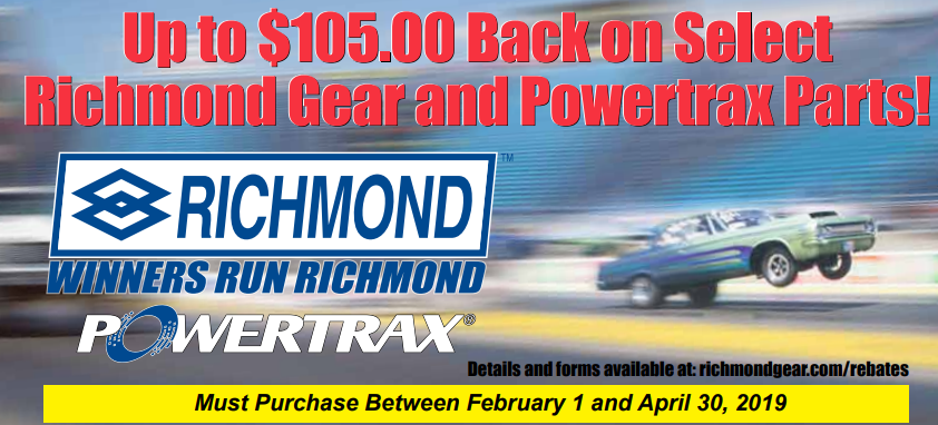 Richmond Gear Up to $105 Back on Select Richmond and PowerTrax Purchases