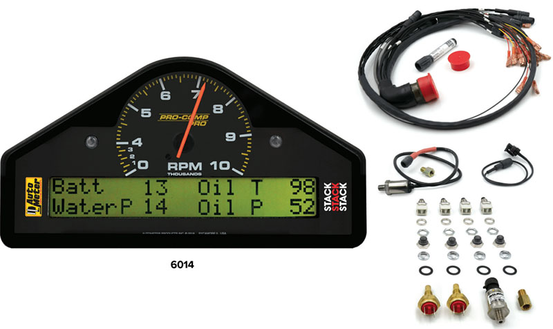 AutoMeter Race Display System with 35 PSI Water Pressure Channel 6014