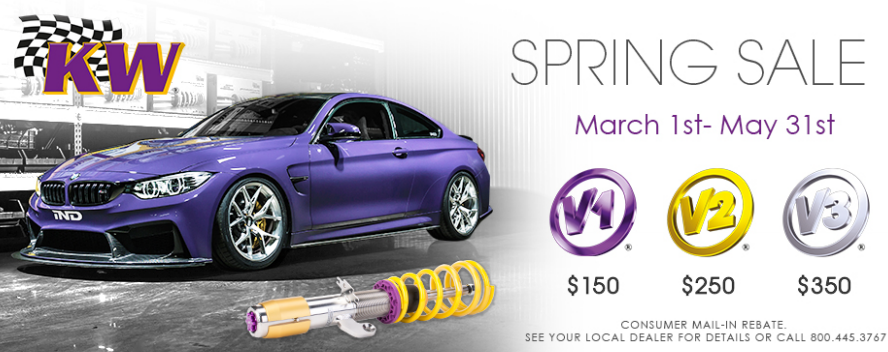 KW Suspensions Get up to $350 Back on Coilovers