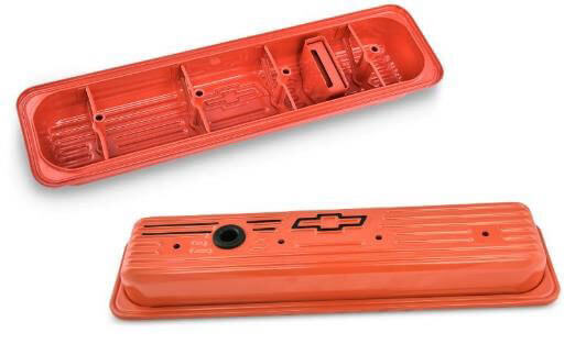 PROFORM: Chevy Orange Stock-Height Valve Covers for Small-Block Chevy Gen II