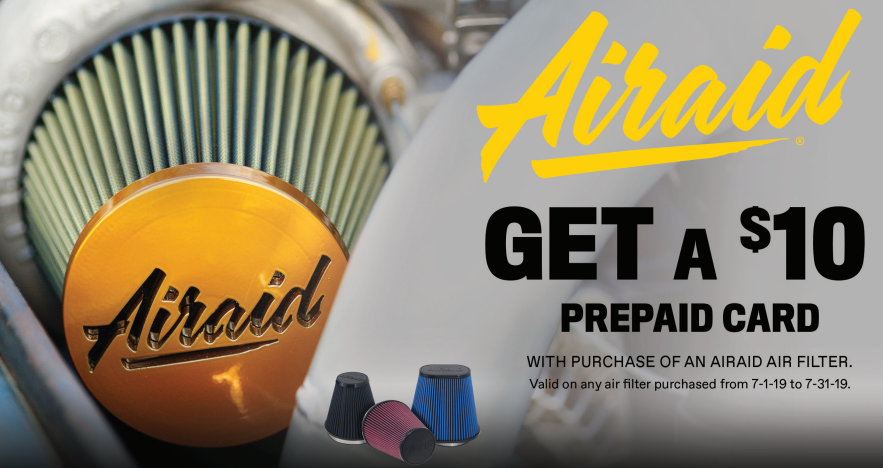 AIRAID: Get $10 Back on Air Filters